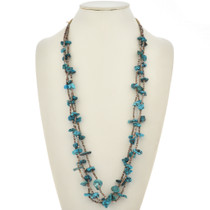 Vintage Turquoise Necklace Three Strands 30059