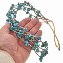 Turquoise Navajo Heishi Necklace 30059