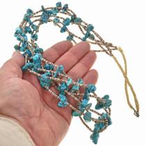 Turquoise Navajo Heishi Necklace 30059