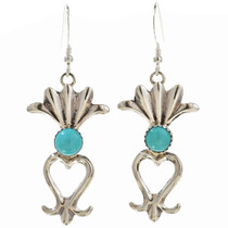 Turquoise Squash Blossom Earrings 30061