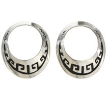 Overlaid Silver Earrings 30078