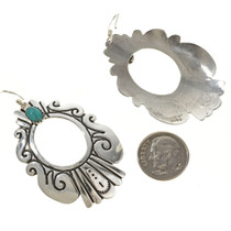 Silver Overlay Western Style Earrings 30079