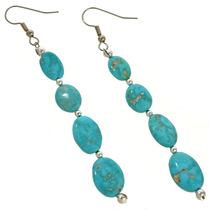 Kingman Turquoise Navajo Earrings 30081