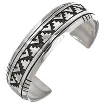 Handmade Navajo Silver Overlay Cuff 30098