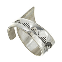 Navajo Design Silver Ring 30107