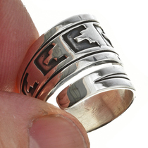 Sterling Silver Navajo Ring 30110