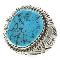 Turquoise Silver Navajo Ring 30130