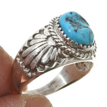 Overlaid Silver Turquoise Ring 30131