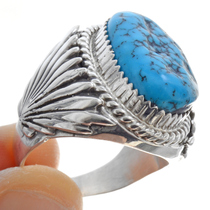 Sterling Silver Navajo Mens Ring 30132