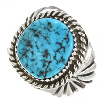 Natural Turquoise Navajo Mens Ring 30133