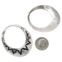 Overlaid Silver Earrings 30138