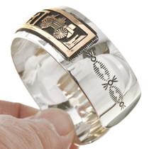 Gold Storyteller Overlaid Cuff Bracelet 30145