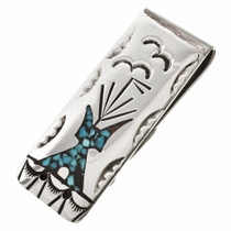 Turquoise Silver Money Clip 30161