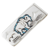 Buffalo Turquoise Coral Money Clip 22833