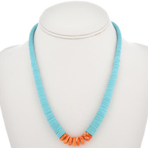 Navajo Turquoise Heishi Spiny Oyster Necklace 30163