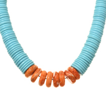 Traditional Bead Turquoise Necklace 30163