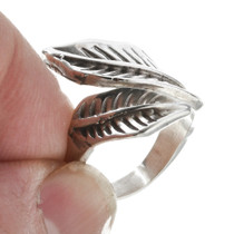 Silver Feather Bypass Navajo Ring 30168
