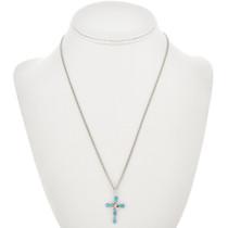 Silver Turquoise Cross Pendant 31074