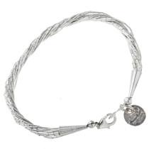 Liquid Silver Navajo Bracelet 30184