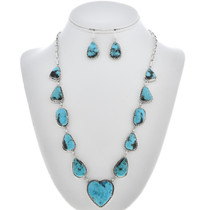 Navajo Turquoise Y Necklace Set 30193