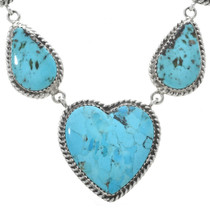 Indian Turquoise Heart Necklace 30193