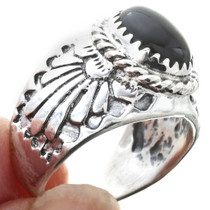 Black Onyx Navajo Ring -30195