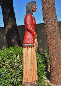 Man Dan Indian Gallagher Hand carved Aspen Wood 30197