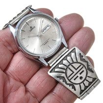 Vintage Hand Crafted Sterling Silver Watch 30217