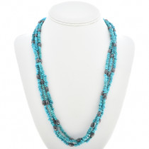 Turquoise Chip Hematite Necklace 30268