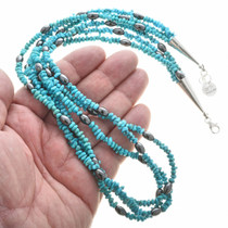 Navajo Made Beaded Turquoise Necklace 30268