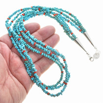 Turquoise Bead Navajo Indian Necklace 30269
