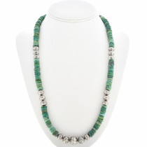 Blue-Green Turquoise Heishi Necklace 30273
