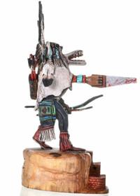 Native American White Ogre Wiharu Kachina Doll  30283