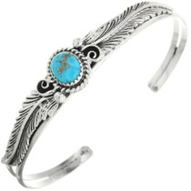 Natural Turquoise Sterling Silver Cuff Bracelet 30294