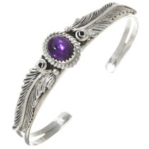 Amethyst Silver Ladies Native American Bracelet 30295