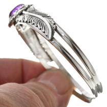 Navajo Sterling Silver Amethyst Bracelet 30295