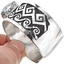 Royston Turquoise Silver Overlay Bracelet 30306