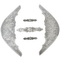 Vintage Fancy Engraved Silver Saddle Trim
