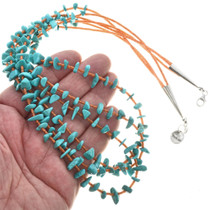 Navajo Turquoise Chip Necklace 30315