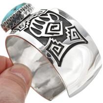 Overlaid Silver Cuff Bear Paw Bracelet 30331