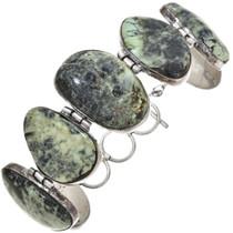 Sterling Turquoise Link Bracelet 30333