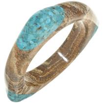 Ladies Turquoise Jasper Southwest Bangle Modern Triangular Bracelet 30343