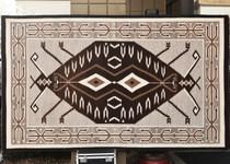 Jailbird Motif Navajo Teec Nos Pos Rug 30395