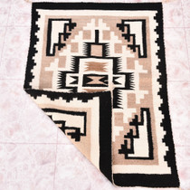 Navajo Two Grey Hills Wool Rug 30407