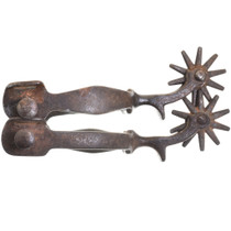 Vintage Hand Forged Steel Spurs.30416