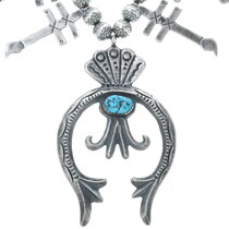 Old Pawn Style Squash Blossom Necklace 30457