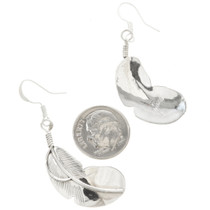 Native American Feather Earrings French Hooks 30458