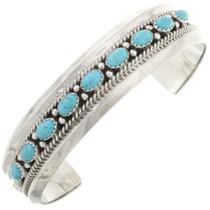 Genuine Turquoise Row Navajo Bracelet 0248
