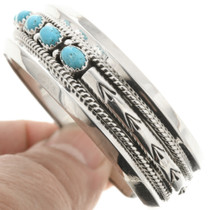 Navajo Bracelet Hammered Silver Patterns 0248