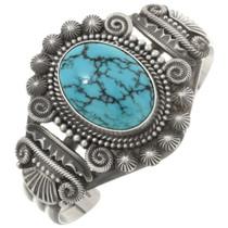 Navajo Turquoise Silver Ladies Sterling Bracelet 30512